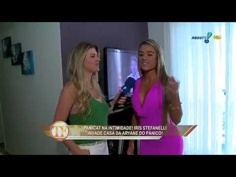 TV Fama Iris invade apartamento da panicat Aryane Steinkopf