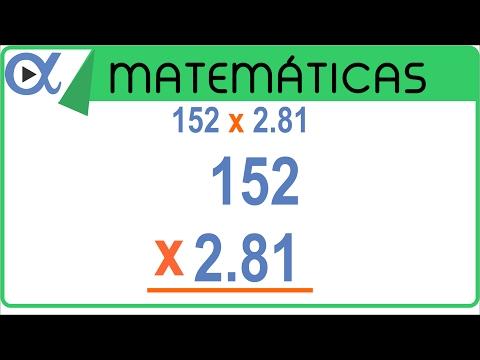 Multiplicación con punto decimal ejemplo 1 de 3 Aritmética Vitual