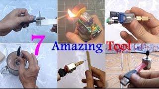 7 Incredible Gadgets You Can Make At Home | Life Hacks DC Motor