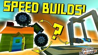 SPEED BUILD CHALLENGES! (Also I Was Robbed...) - Scrap Mechanic Gameplay