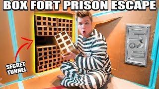 24 HOUR BOX FORT PRISON ESCAPE ROOM!! 📦🚔 Secret Tunnel, SPY GADGETS & More!