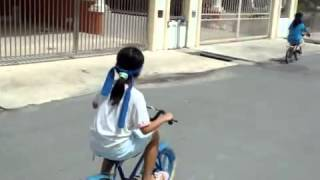 Genius Discovery, blind fold cycling