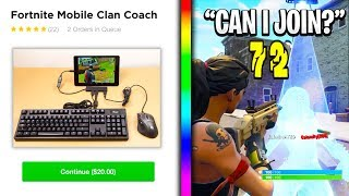 So I hired a MOBILE Fortnite Coach, then tried out for his clan...