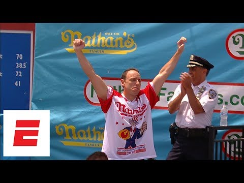 Xxx Mp4 Joey Chestnut Pummels Record 74 Hot Dogs To Win Nathan's Hot Dog Eating Contest For 11th Time ESPN 3gp Sex