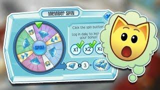 Animal jam daily spin prizes