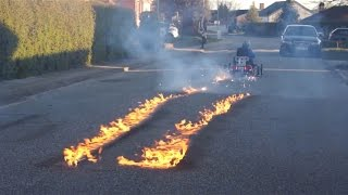 Back To The Future Go Kart Flaming Experiment
