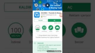 shareit Hızlı dosya transferi program video muzik transfer share uygulama oyun gönderme wifi direct
