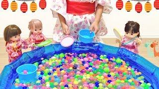 スーパーボールすくい 流れるプール メルちゃん ぽぽちゃん / Mell-chan Doll and Bouncy Ball Scooping