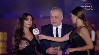 """مهرجان القاهرة السينمائي - لقاء مع الثنائي الجميل """" أشرف زكي وروجينا """" ورأيهم في المهرجان"""