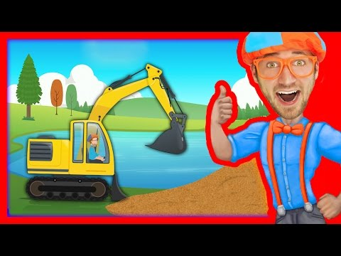 Construction Vehicles for Kids with Blippi The Excavator Song