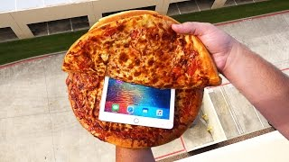 Can Two Chicago Style Pizzas Protect an iPad Pro from a 100 FT Drop Test?