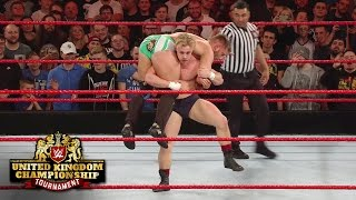 Tyler Bate counters Tucker's suicide dive: WWE United Kingdom Championship Tournament