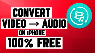 HOW TO CONVERT VIDEO TO AUDIO/MP3 ON iPHONE - 2017