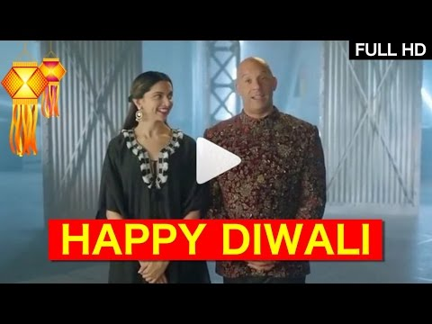 XXX Deepika Padukone and Vin Diesel wishing Diwali to Indian Fans in Hindi | FULL HD VIDEO | #Diwali