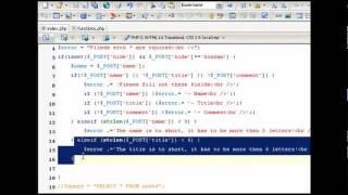 برمجة سكربت دفتر زوار باستخدام PHP - MySQL - XHTML - CSS - Java Script ج6