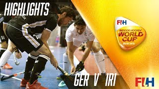 Germany v Iran - Match Highlights Indoor Hockey World Cup - Men