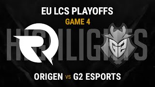 Origen vs G2 Esports Highlights Game 4 - Grand Final EU LCS Spring Playoffs 2016 - OG vs G2 G4