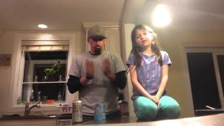 Father and Daughter perform the Cup Song --CUP SONG COVER / CUPS / Anna Kendrick / Pitch Perfect