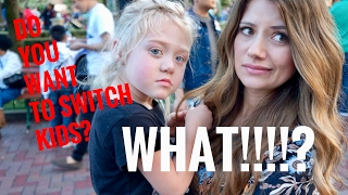 DAY WITH 4 YEAR OLD EVERLEIGH AND SWITCHING KIDS! VLOG