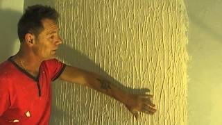 How to Make Tree Bark Wall Texture (knock down flat) Easy Simple Steps