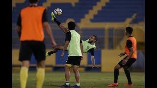 هدف محمد السهلاوي الثاني في المناورة بين الفريق الأول والفريق الأولمبي بنادي النصر