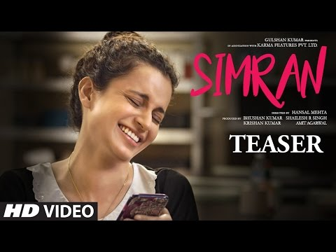 Official Movie Teaser - Simran | Kangana Ranaut |  Hansal Mehta | T-Series