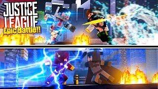 Minecraft VERSUS - EPIC JUSTICE LEAGUE BATTLE!!