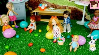 Easter Egg Hunt with Frozen Elsa and Anna at The Barbie Dreamhouse Backyard -  Kid Stories