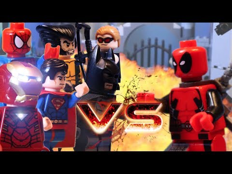LEGO ALL DEADPOOL BATTLES VS WOLVERINE CAPTAIN AMERICA JUSTICE LEAGUE HULK