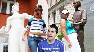PEOPLE DOING INAPPROPRIATE THINGS TO STATUES!