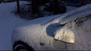 Frozen Snow Covered Tesla Model X - m1kTV0143