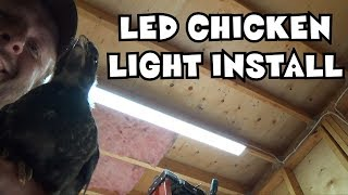 Installing the LED strip lights in the work shop