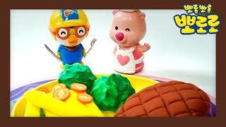[요리왕루피] 햄버그 스테이크 만들기 | 뽀로로 장난감 | 미니어처 장난감 | 클레이 아트