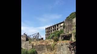 軍艦島 端島 GUNKANJIMA  World Heritage ruins island in Japan 2016. Battleship