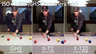 GH5 vs a7S, a7R II, GH4, E-M1 II, X-T2 & X-T20 (Low-light High ISO Video Quality Review Test)