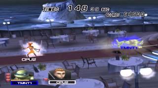 pcsx2- emulator(teenage mutant ninja turtles smash-up ps2) Gameplay