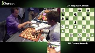 Magnus Carlsen (1 minute) vs Daniel Rensch (2 minutes) Game 5