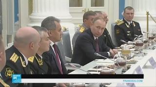 بوتين يجتمع بضباط من البحرية الروسية شاركوا بمهمات في سوريا