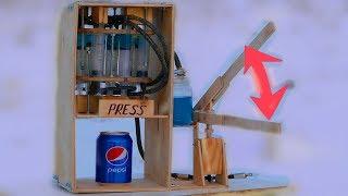 Powerful Hydraulic Press | Strongest Hydraulic Press from Syringes