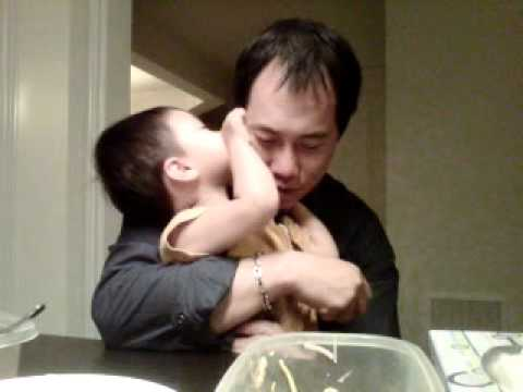Dat and Daddy has son and father moment