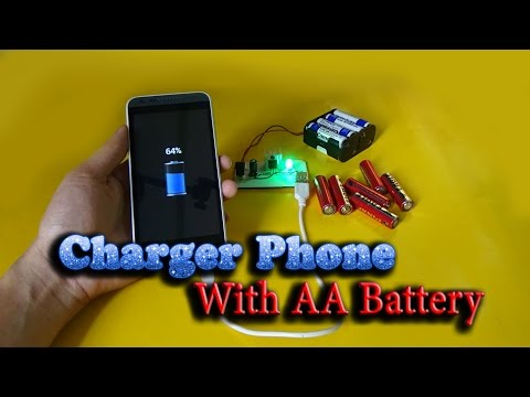 How to Emergency Phone Charger With battery AA simple