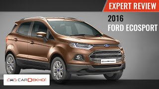 2016 Ford EcoSport | Expert Review Video | CarDekho.com