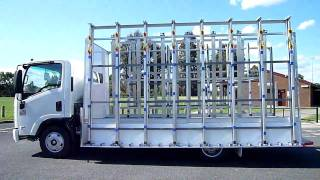 The Glass Racking Company 4.5M Open Delivery on Isuzu NNR Cab Chassis