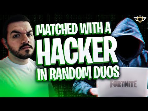COURAGE MATCHED A HACKER IN RANDOM DUOS HIS SISTER ROASTED ME Fortnite Battle Royale