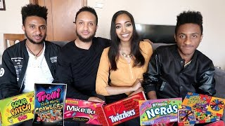 Ethiopia Vlog 12 Ethiopians Try American Candy For The First Time 😂  | Amena