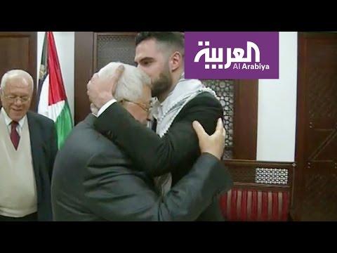 بحرارة أبومازن يرحب بـ محبوب العرب في رام الله