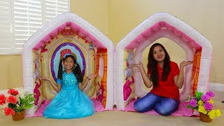 Wendy Pretend Play w/ Giant Indoor Inflatable Playhouse Kids Toy