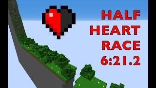 [ World Record ] Minecraft - Half Heart Race Map Speedrun (6:21.2)