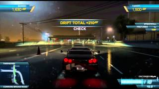 Nissan Skyline GT-R R34 Drift Attack Gameplay - Need for Speed: Most Wanted (2012)
