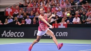 Highlights: Viktorija Golubic (SUI) v Barbora Strycova (CZE)